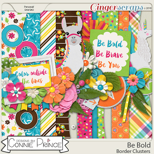 Be Bold - Border Clusters by Connie Prince