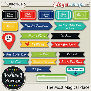The Most Magical Place WORD BITS by Heather Z Scraps