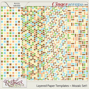 CU Layered Paper Templates ~ Mozaic Set1