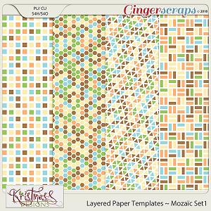 CU Layered Paper Templates ~ Mozaic Set1