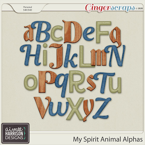 My Spirit Animal Alpha Sets by Aimee Harrison
