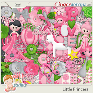 Little Princess - Pink Princess Digital Scrapbook Kit