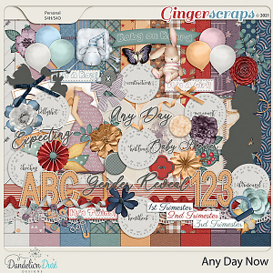 Any Day Now Digital Scrapbook Kit by Dandelion Dust Designs