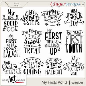 My Firsts Vol 3 Word Art