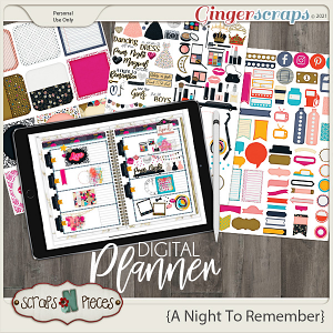 A Night To Remember Planner Pieces by Scraps N Pieces