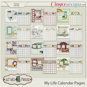 My Life Calendar Pages and Quick Pages by Scraps N Pieces
