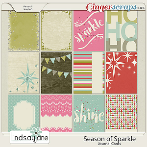 Season of Sparkle Journal Cards by Lindsay Jane