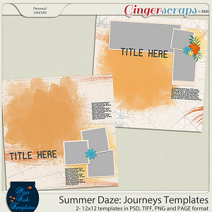 Summer Daze: Journeys Templates by Miss Fish