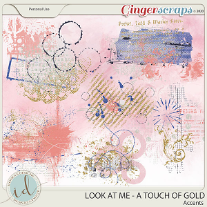 Look at Me A Touch Of Gold Accents by Ilonka's Designs