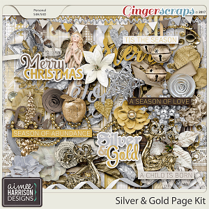 Silver & Gold Page Kit by Aimee Harrison