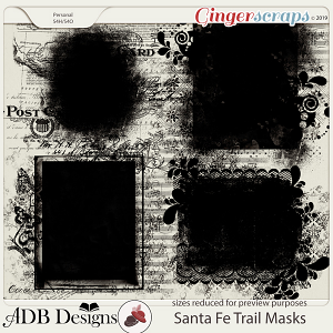 Santa Fe Trail Masks by ADB Designs