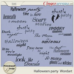 Halloween party Wordart
