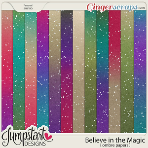 Believe in the Magic {Ombre Papers} by Jumpstart Designs