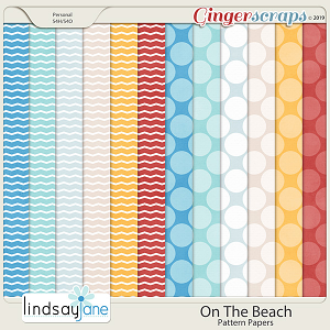 On The Beach Pattern Papers by Lindsay Jane
