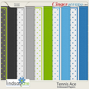 Tennis Ace Embossed Papers by Lindsay Jane