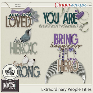 Extraordinary People Titles by Aimee Harrison and JB Studio