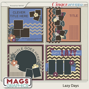 Lazy Days TEMPLATES by MagsGraphics