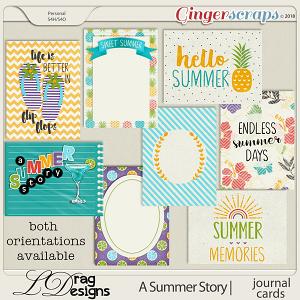 A Summer Story: Journal Cards by LDragDesigns