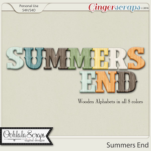 Summers End Alphabets