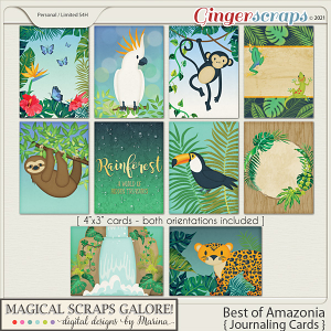 Best of Amazonia (journaling cards)