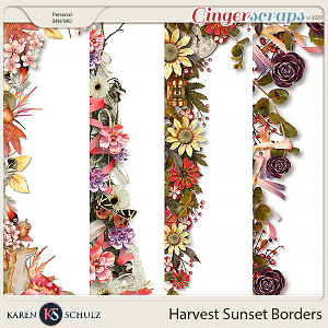 Harvest Sunset Borders by Karen Schulz