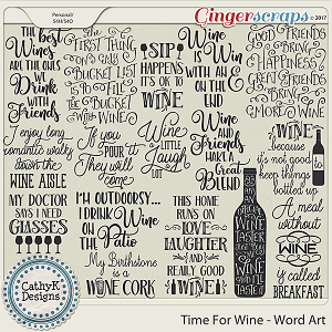 Time for Wine - Word Art