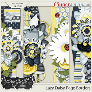 Lazy Daisy Page Borders