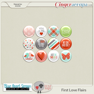 First Love Flairs by Luv Ewe Designs and Blue Heart Scraps