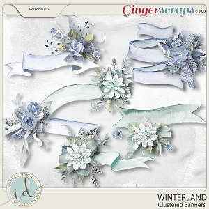 Winterland Clustered Banners by Ilonka's Designs