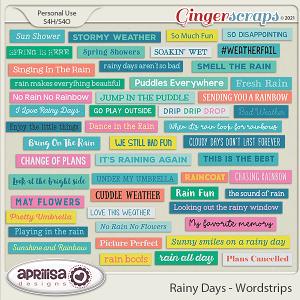 Rainy Days - Wordstrips