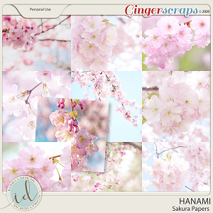 Hanami Sakura Papers by Ilonka's Designs
