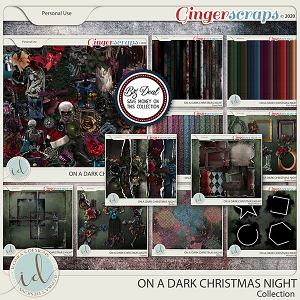 On A Dark Christmas Night Collection by Ilonka's Designs