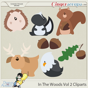 Doodles By Americo: In The Woods Vol 2 Cliparts