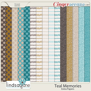 Teal Memories Extra Papers by Lindsay Jane