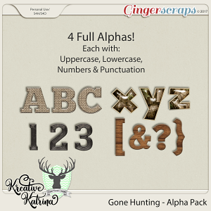 Gone Hunting Alphas by Dear Friends Designs