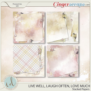 Live Well, Laugh Often, Love Much Stacked Papers by Ilonka's Designs