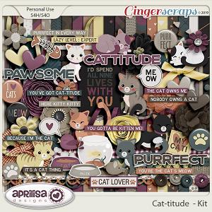 Cat-titude - Kit by Aprilisa Designs