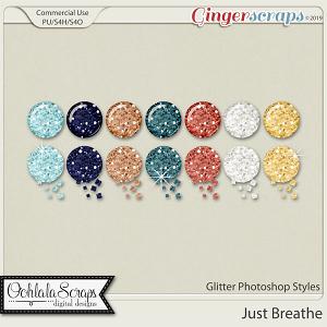 Just Breathe CU Glitter Photoshop Styles