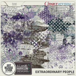 Extraordinary People Grafitti by JB Studio & Aimee Harrison