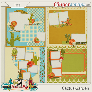 Cactus Garden Quick Pages by The Scrappy Kat