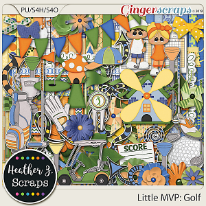 Little MVP: Golf KIT by Heather Z Scraps