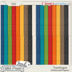 Travelogue - Embossed Papers