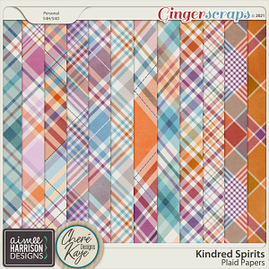 Kindred Spirits Plaid Papers by Aimee Harrison and Chere Kaye Designs