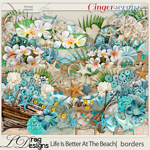 Life Is Better At The Beach: Borders by LDragDesigns