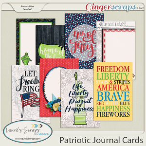 Patriotic Journal Cards