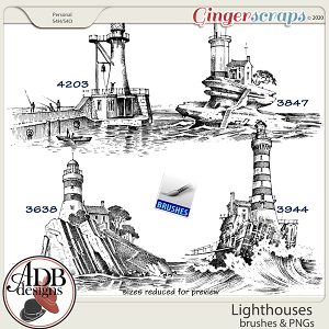 Heritage Resource - Lighthouse Stamps & Brushes by ADB Designs