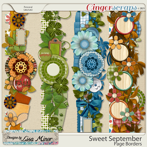Sweet September Page Borders from Designs by Lisa Minor
