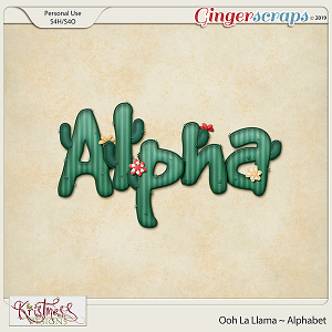 Ooh La Llama Alphabet
