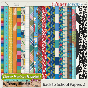 Back to School Paper Pack Two by Clever Monkey Graphics
