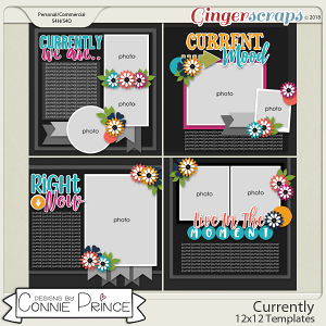 Currently - 12x12 Templates (CU Ok) by Connie Prince